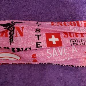 Nurse or doctors breast cancer pink face mask